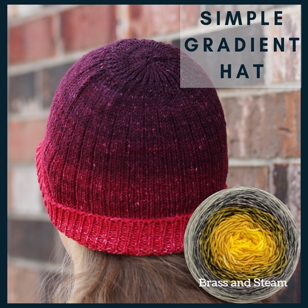 Simple Gradient Hat Yarn Pack, pattern not included, dyed to order
