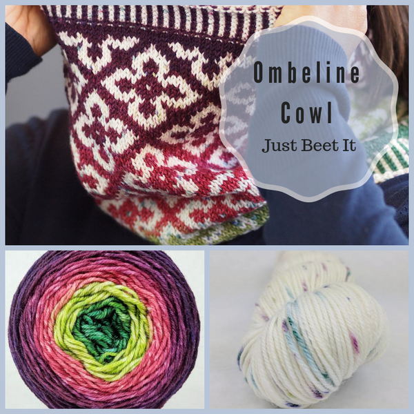 Ombeline Cowl Yarn Pack, pattern not included, dyed to order