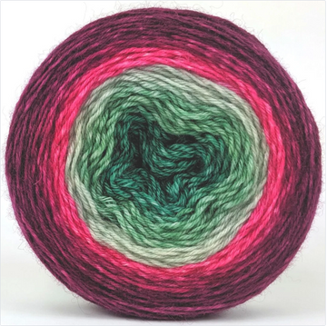 Knitcircus Yarns: Sleigh Ride 100g Panoramic Gradient, Breathtaking BFL, ready to ship yarn