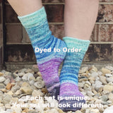 Space Is Big. Really Big. Impressionist Gradient Matching Socks Set, dyed to order