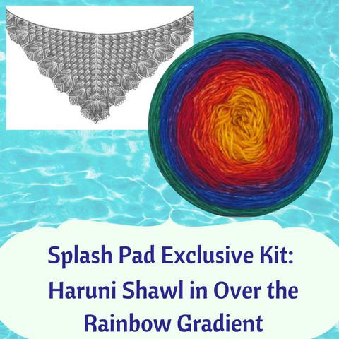 Haruni Plus Shawl Exclusive Kit, for Splash Pad KAL participants only, ready to ship