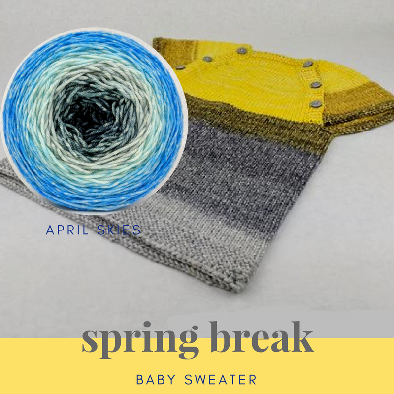 Spring Break Baby Sweater Yarn Pack, up to size 2 years, pattern not included, dyed to order