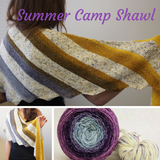Summer Camp Shawl Yarn Pack, pattern not included, ready to ship