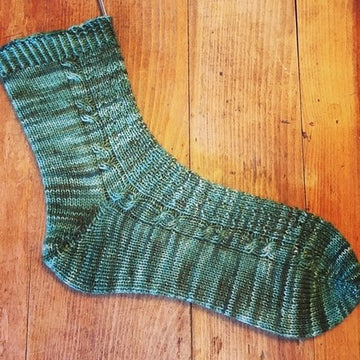 Pattern - Digital Download of Fairy Tree Socks by The Driftless Knitter