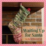 Waiting Up For Santa Stocking Kit, dyed to order