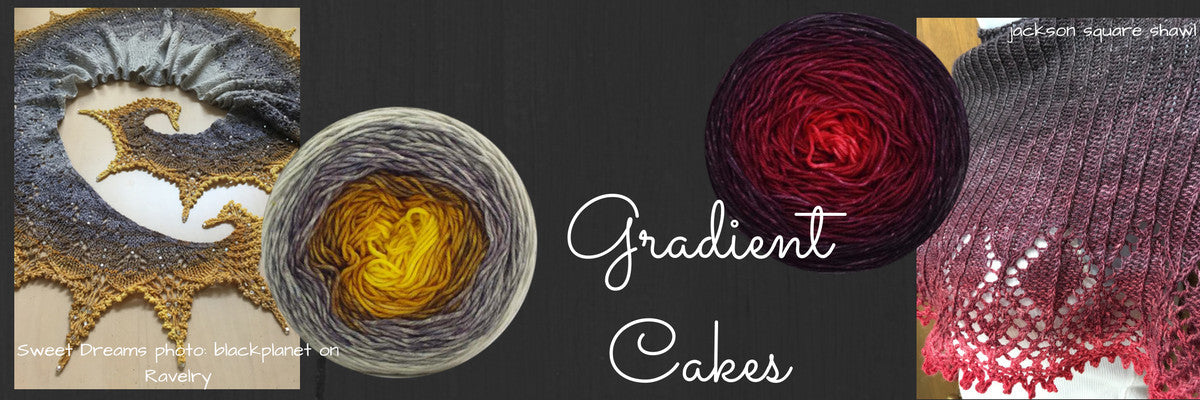 Hand-dyed Luxury Gradient Cakes