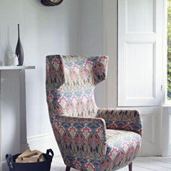 Liberty art fabrics upholstered chair in Ianthe flower original fabric. Blog at Decor Rooms