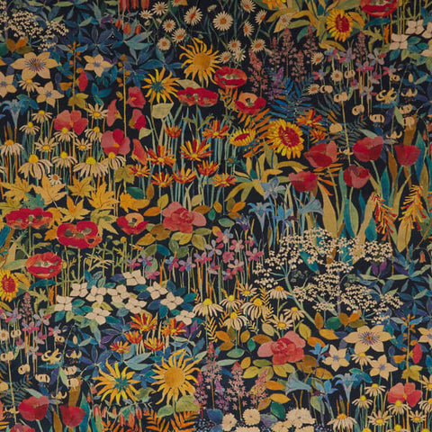 Faria Flowers Fabric in Marigold by Liberty at Decor Rooms