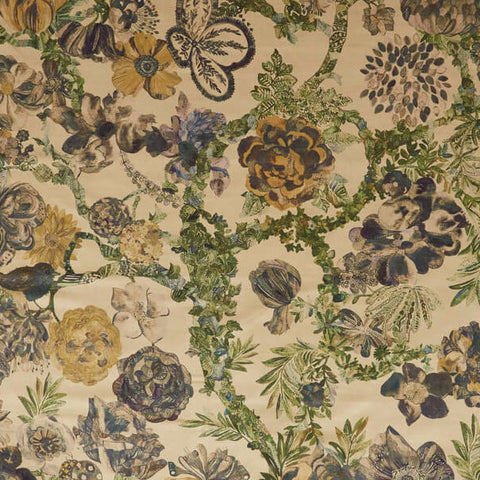 Jeffery Rose Tree Fabric in Golden by Liberty at Decor Rooms