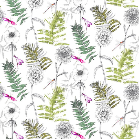 Designers Guild Acanthus - MOSS floral fabric Decor Rooms