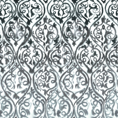 Designers Guild Arabesque - GRAPHITE pattern fabric Decor Rooms