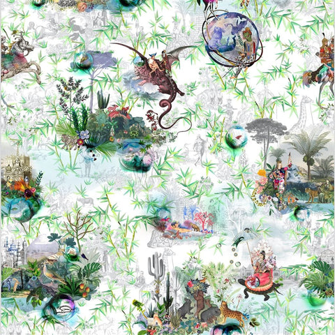 Christian Lacroix REVERIES VERT BUIS Wallpaper Decor Rooms