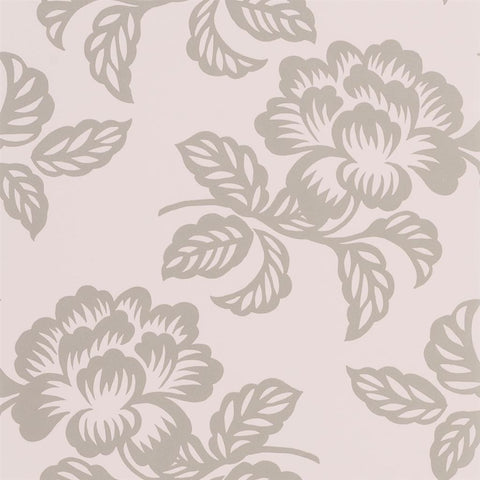 Designers Guild Berettino Tuberose Floral wallpaper Decor Rooms