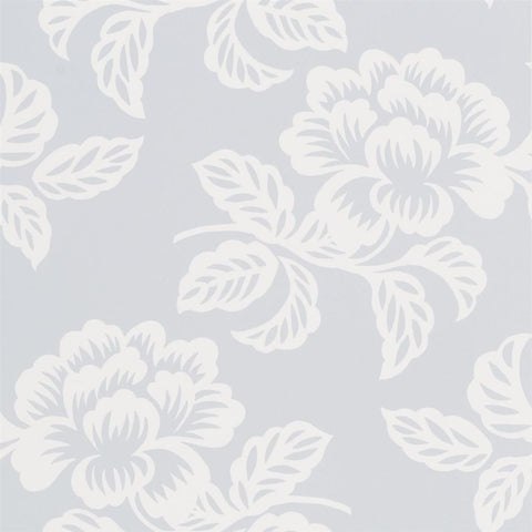 Designers Guild Berettino sky floral wallpaper Decor Rooms