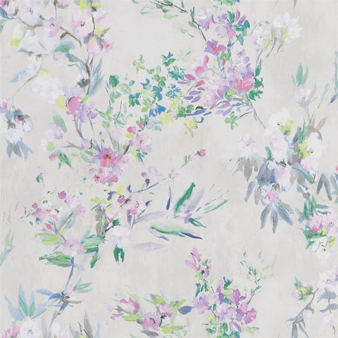 Designers Guild Faience Linen Wallpaper Decor Rooms