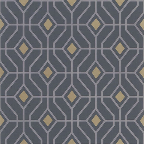 Designers Guild Laterza Graphite Wallpaper Decor Rooms