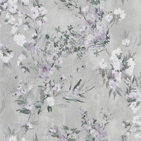Designers Guild Faience Silver Wallpaper Decor Rooms