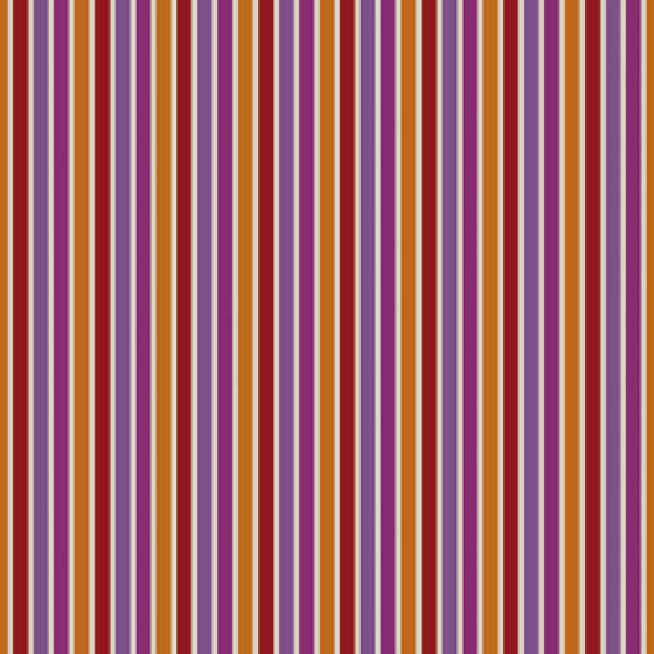 Casamance Sarnia - Orange/Magenta Fabric 7670396 Fabrics - Decor Rooms