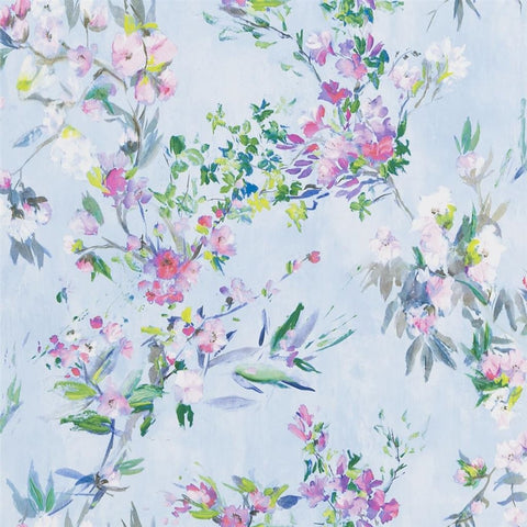 Designers Guild Faience Sky Wallpaper Decor Rooms