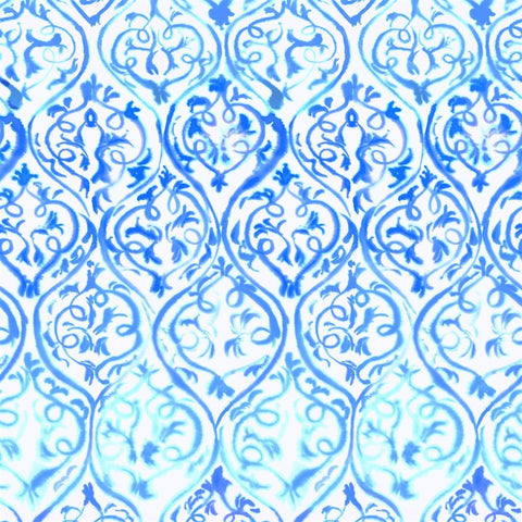 Designers Guild Arabesque Cobalt Wallpaper Decor Rooms