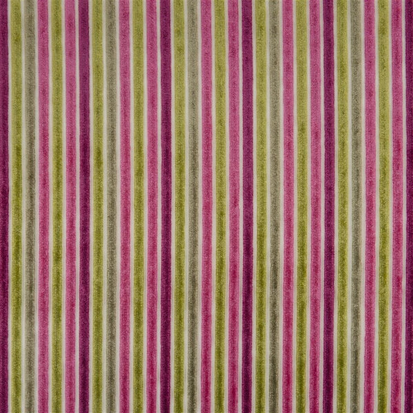 Designers Guide Marshall - Berry Striped Velvet Fabric Decor Rooms