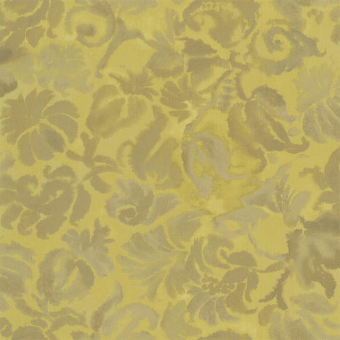 Designers Guild Katagami Ochre floral wallpaper Decor Rooms