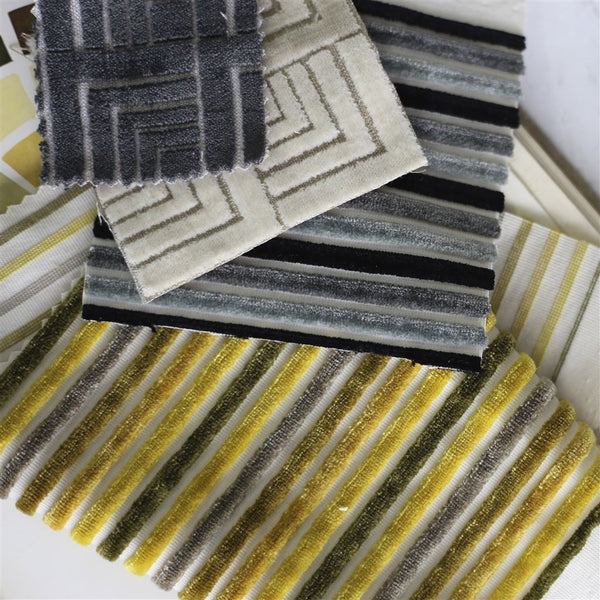Designers Guild Frith - Graphite Velvet fabric Decor Rooms