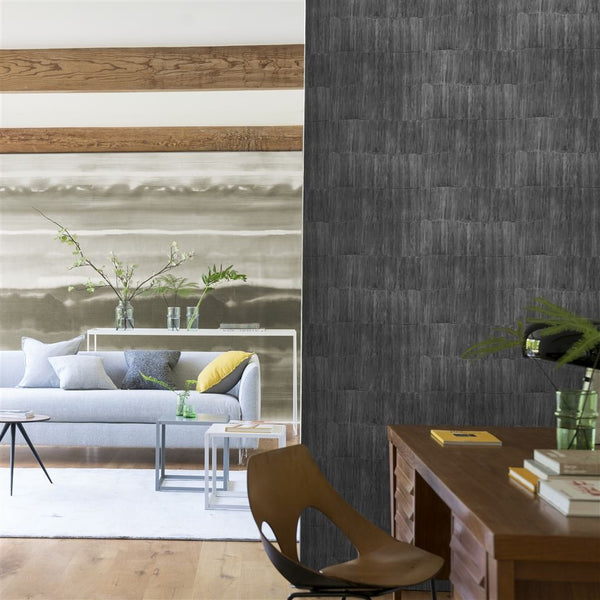Designers Guild Sakiori Walnut wallpaper Decor Rooms