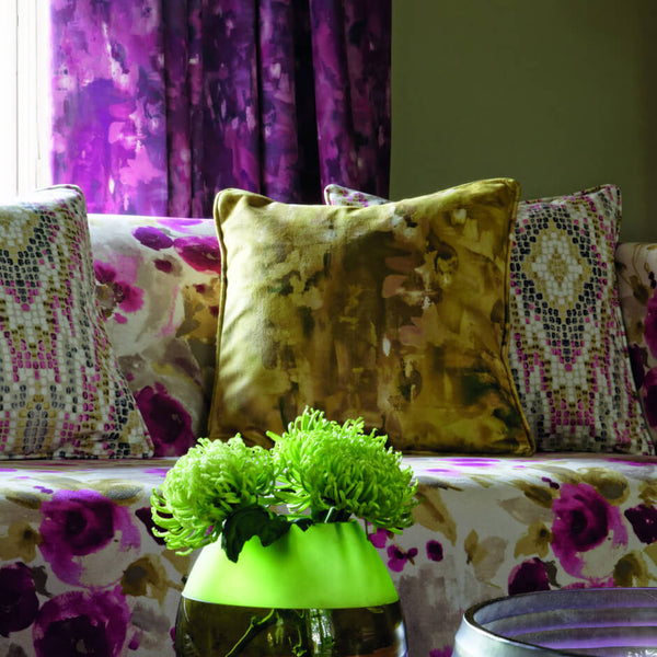 Clarke & Clarke Nerina - Damson Fabrics - Decor Rooms - 2