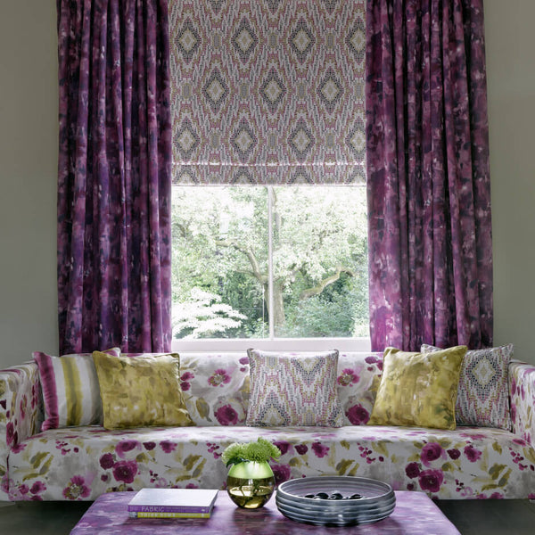 Clarke & Clarke Paola - Damson Fabrics - Decor Rooms - 2