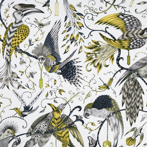 Audubon Gold Fabric by Clarke & Clarke - Decor Rooms