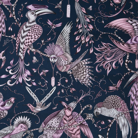 Audubon Pink Fabric by Clarke & Clarke - Decor Rooms