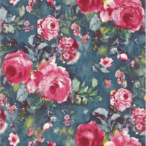 Casamance Stella - Fushia Wallpaper 73390238 Wallpaper - Decor Rooms - 1