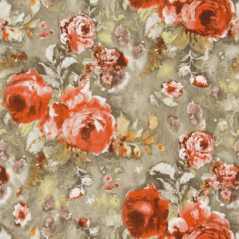 Casamance Stella - Orange Wallpaper 73390340 Wallpaper - Decor Rooms - 1