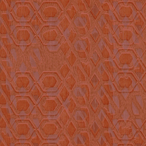 Casamance Bronze - Orange Wallpaper 73470465 Wallpaper - Decor Rooms - 1