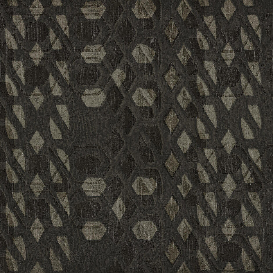Casamance Bronze - Anthracite Wallpaper  73470567 Wallpaper - Decor Rooms - 1