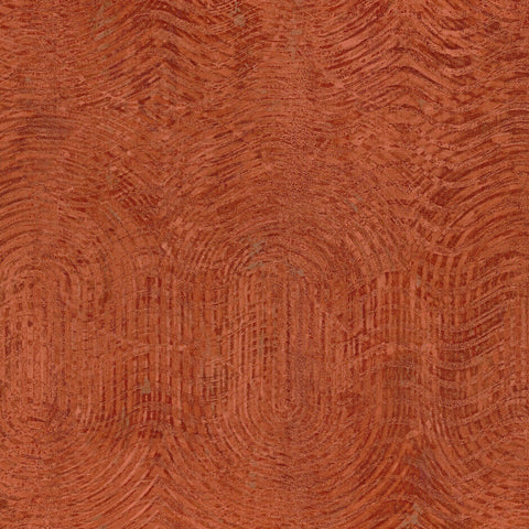 Casamance Nickel - Orange Wallpaper 73480577 Wallpaper - Decor Rooms - 1
