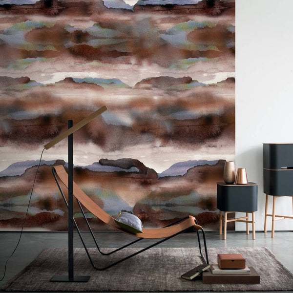 Casamance Iron - Brun Chocolate Wallpaper 73460153 Wallpaper - Decor Rooms - 2