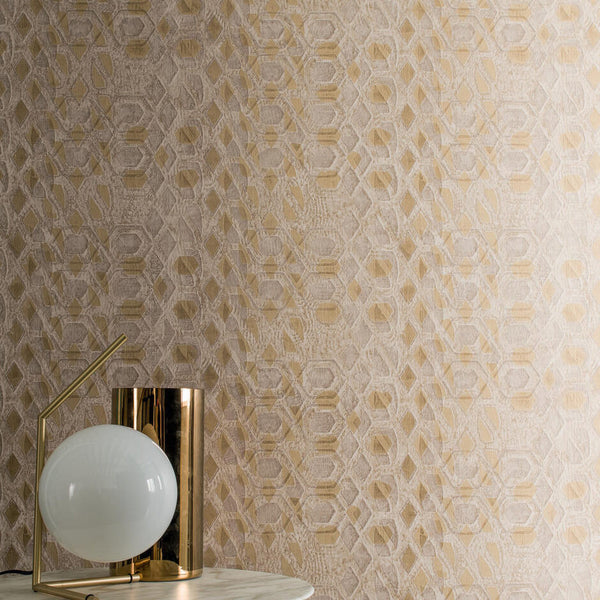 Casamance Bronze - Anthracite Wallpaper  73470567 Wallpaper - Decor Rooms - 2