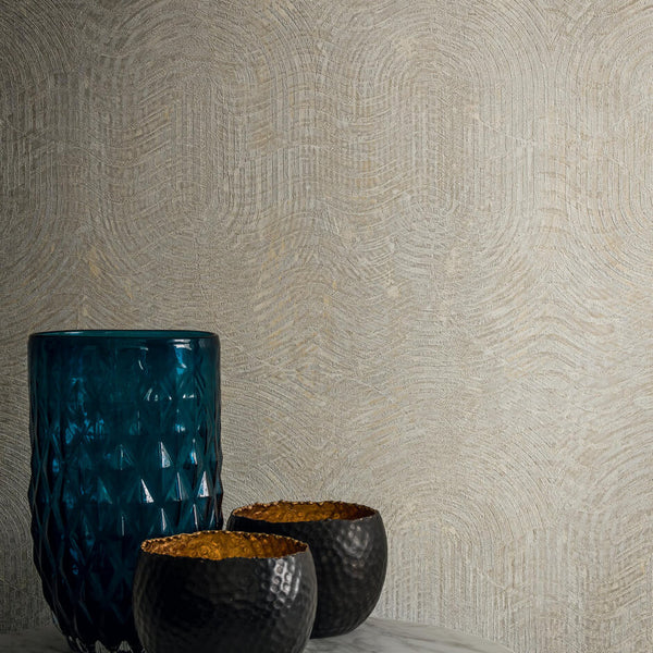Casamance Nickel - Orange Wallpaper 73480577 Wallpaper - Decor Rooms - 2