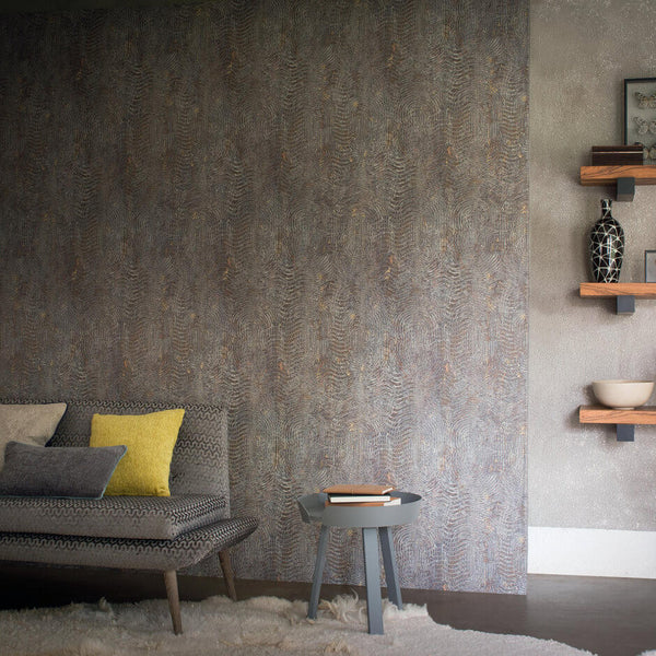 Casamance Nickel - Tourterelle Wallpaper 73480373 Wallpaper - Decor Rooms - 2