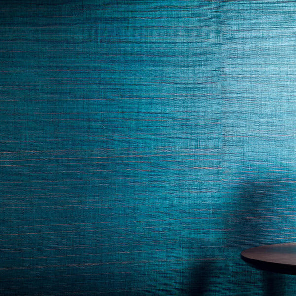 Casamance Pencil - Turquoise Wallpaper 70160841 Wallpaper - Decor Rooms - 2