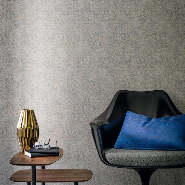 Casamance Tyburn - Chataigne Fabric 73420262 Wallpaper - Decor Rooms - 2