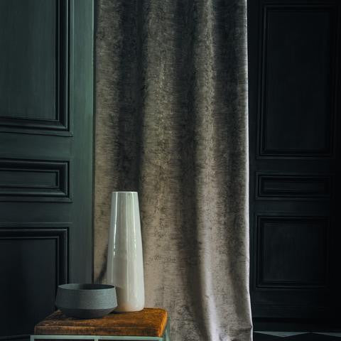 Casamance Corolle - Noir Fabric 35972436 Fabrics - Decor Rooms - 2
