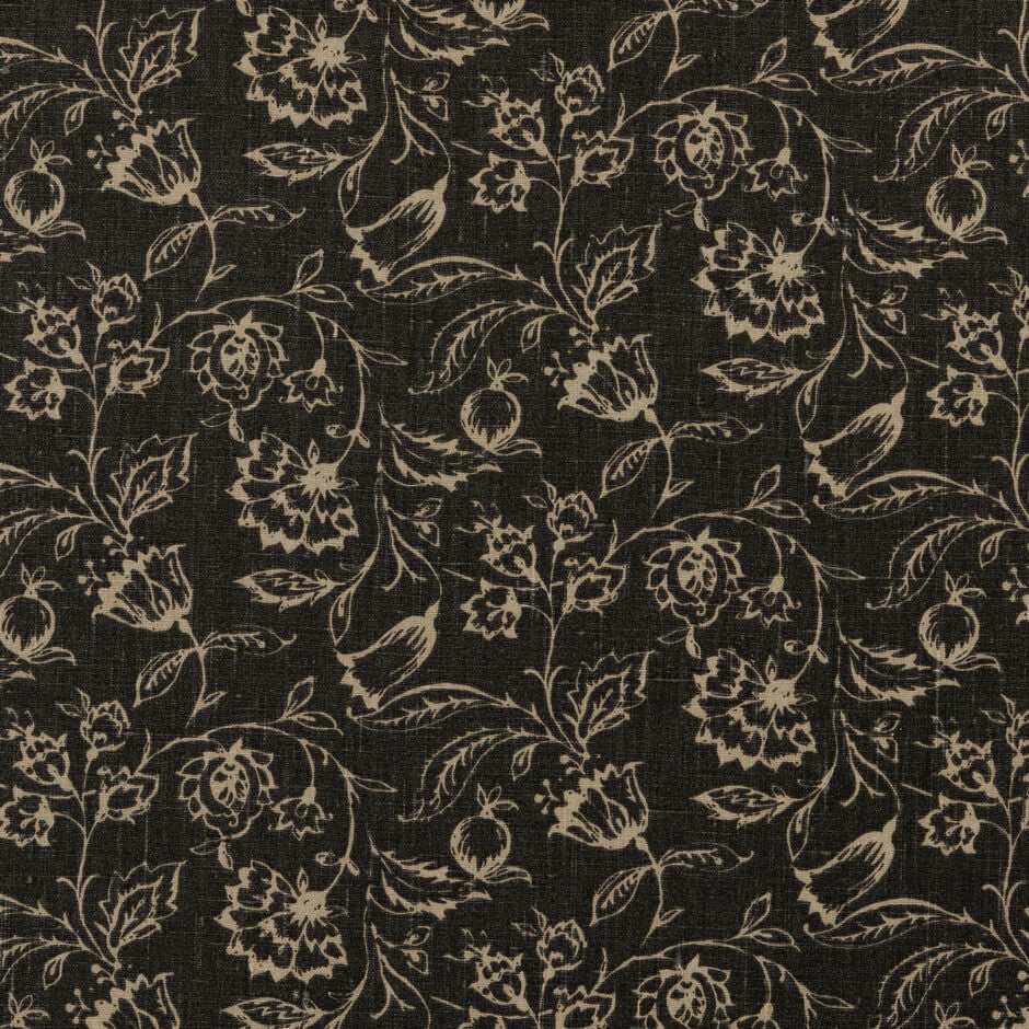 Clarke & Clarke Marie - Charcoal Fabrics - Decor Rooms - 1