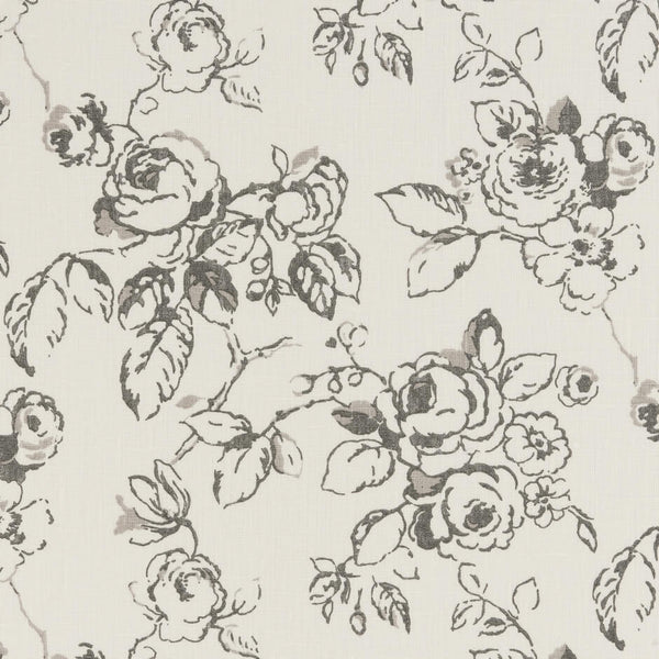 Clarke & Clarke Delphine - Charcoal Fabrics - Decor Rooms - 1