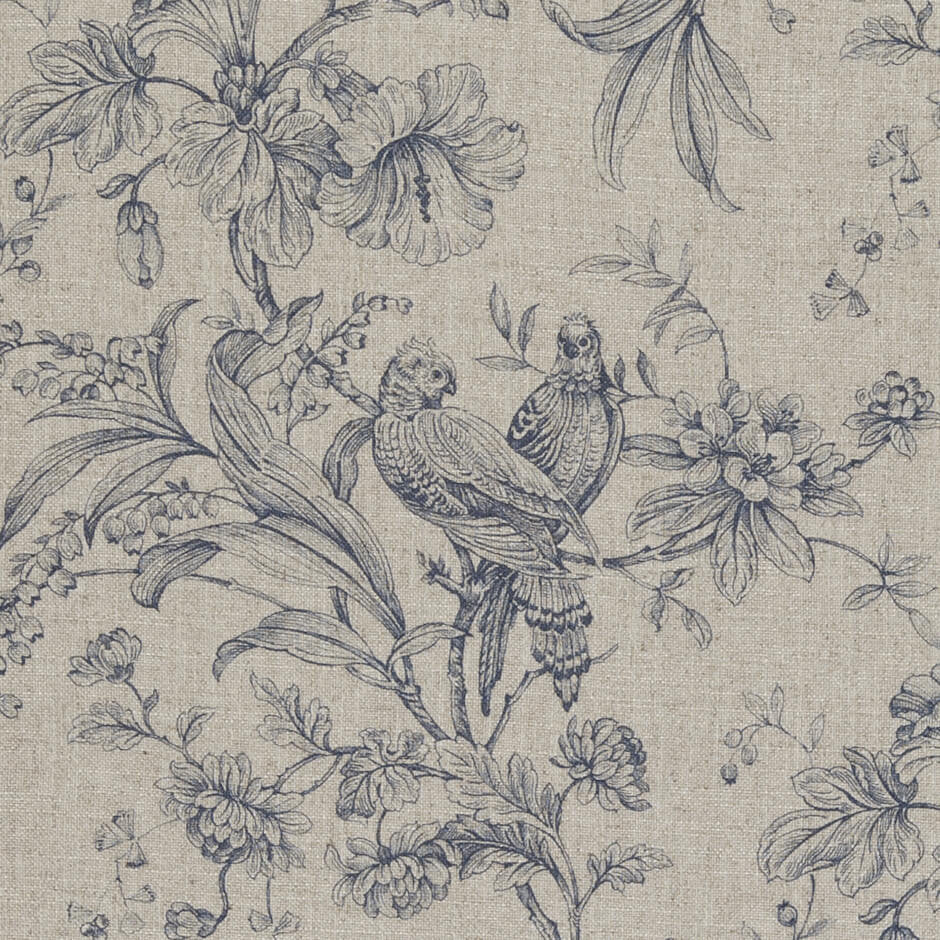 Clarke & Clarke Kellie - Denim Fabrics - Decor Rooms - 1