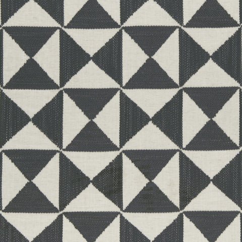 Amara Collection -Adisa Charcoal  Fabric by Clarke & Clarke - Decor Rooms