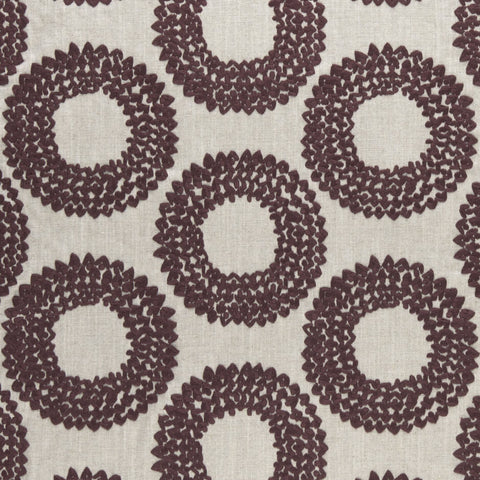 Amara collection - Dashiki Plum Fabric - Clarke and Clarke - Decor Rooms