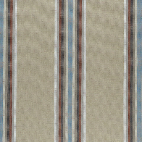 Amara Collection - Imani Cinnabar/Aqua Fabric by Clarke & Clarke - Decor Rooms